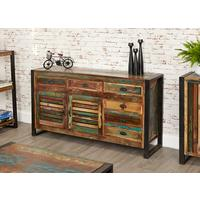 Shoreditch Rustic Large Sideboard Reclaimed Wood