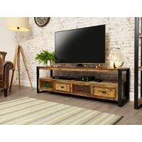 Shoreditch Rustic Widescreen Media Unit Reclaimed Wood