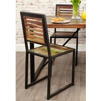 Urban Chic Dining Chair (Pack of two) by Baumhaus Furniture