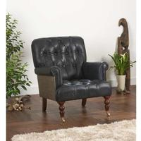 Vintage Leather Imperial Buttoned Armchair