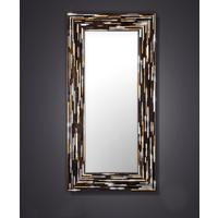 Big Q Dark Brown Glass Mosaic Modern Mirror by Piaggi