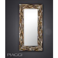 Big Q Light Brown Modern Glass Mosaic Mirror by Piaggi