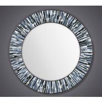Roulette PIAGGI grey glass mosaic round mirror by Piaggi