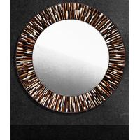 Roulette PIAGGI dark brown glass mosaic round mirror