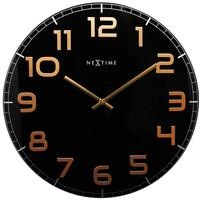 Nextime Classy Large Wall Clock - Black & Copper by Red Candy