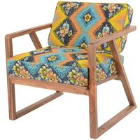 Retro Ethnic Chair With Bright Kantha Fabric