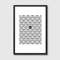 The Dark One Framed Print by Red Candy