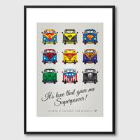 My Superhero VW Universe Framed Print