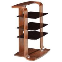 Jual Curved Wood Entertainment Unit JF204 - Walnut or Oak