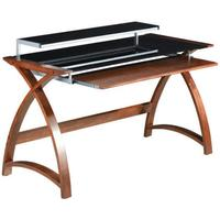 PC201 Helsinki 1300 Desk (Walnut) - PRE ORDER FOR DELIVERY W/C 05/10/20 by Jual Furnishings