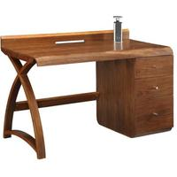 Jual Retro Modern Pedestal Desk 3 Drawers - Walnut