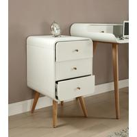 Jual Retro 3 Drawer Pedestal - White and Ash