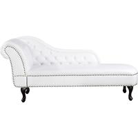 NIMES Chaise Longue Chesterfield Style Faux Suede