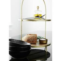 Etagere with Wood Plates