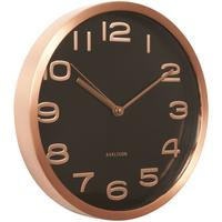Karlsson Maxie Copper Clock - Black