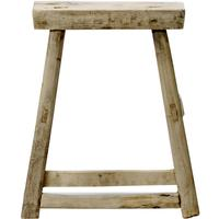 Stool, Elm Wood in Natural by Out There Interiors