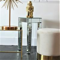 Small Mirrored Pedestal Table by Out There Interiors
