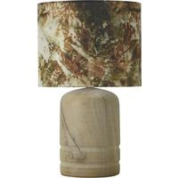 Oak dome lamp