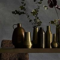 Curvy Metal Jug in Bronze by Out There Interiors
