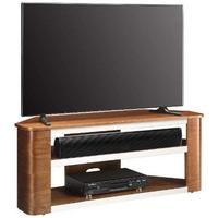 Jual Modern Acoustic Corner TV Stand Walnut JF708