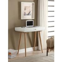 Jual Retro Small Spindle Desk - White and Ash