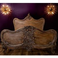 Carved Wood Kingsize French Bed by Out There Interiors