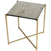 Iris table ANTIQUED GLASS  by Gillmore Space