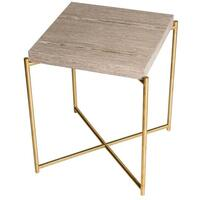 Iris table WEATHERED OAK  by Gillmore Space