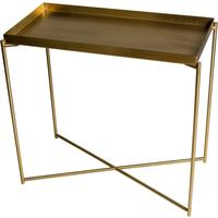 Iris Console Table Small with Brass Tray Top