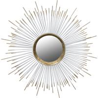 Sunburst White Wall Mirror