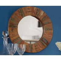 Reclaimed Boat Round Mirror Large  by Verty furniture