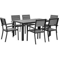 COMO Garden Table and 4 Chairs Polywood and Black