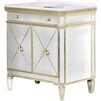 Venetian Mirrored Vanity Unit Antique Gold