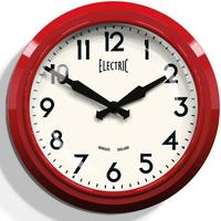 Newgate 50s Electric Wall Clock - Red by Red Candy