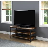 Jual Rustic TV Stand Oak with Metal Frame