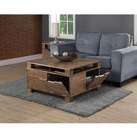 Jual Industrial Coffee Table SW202 in Rustic Oak