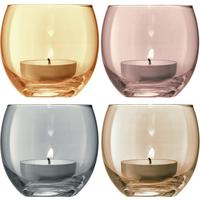 LSA Polka Tealight Holders - Metallic - Set of 4