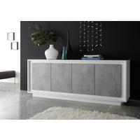 Luna Four Door Sideboard - Matt White/Grey by Andrew Piggott Contemporary Furniture