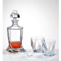 Quadro Crystal Decanter 500 ml & 2 Glass Set by Solavia
