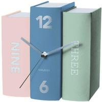 Karlsson Table Clock Book - Multicolour