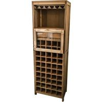 Anjeman Reclaimed Wood Wine Rack by Ombak