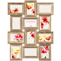 Maggiore Gold Multi Photo Frame 12 Photos