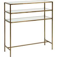 Console Table with Glass Shelves in Gold by Out There Interiors