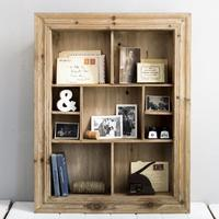 Wooden Multi Shelf Rustic Wall Unit
