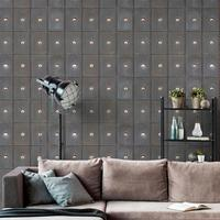 Industrial Metal Cabinets Wallpaper Set of 3 rolls