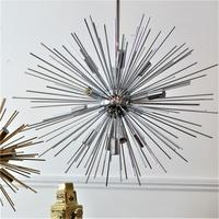 Starburst Hanging Lamp in Silver by Out There Interiors