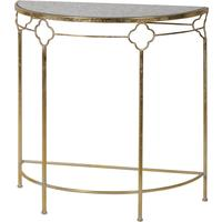 Glass Topped Semi-Circle Console Table by Out There Interiors