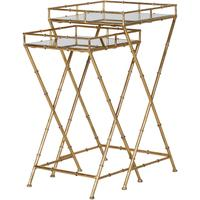 Bamboo Effect Nesting Side Tables by Out There Interiors