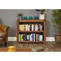 Shiro Walnut Low Bookcase by Baumhaus Furniture