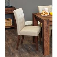Shiro Walnut Flare Back Dining Chair - set of 2